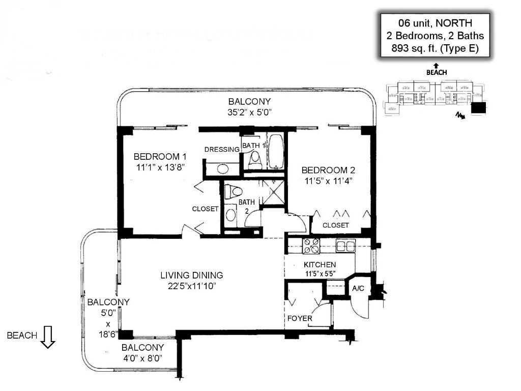 Admiralty House - Floor Plans - Marco Island, Fl
